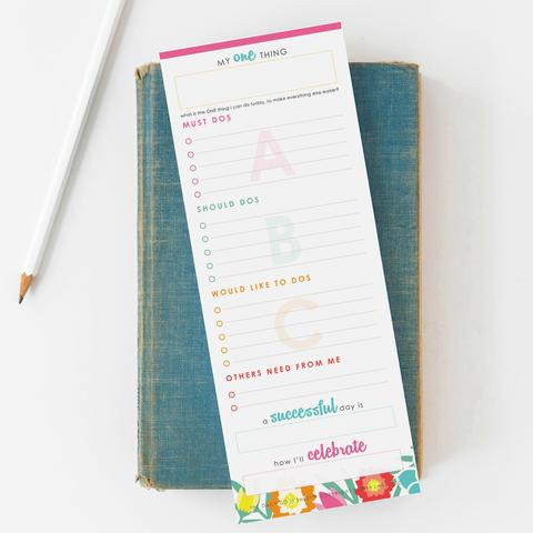 Simple Productivity Tip to Help You Focus: write a short task list