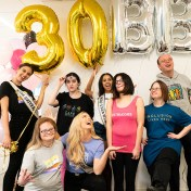Best Buddies celebrate with balloons at 30th Anniversary Launch