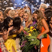 Miss USA 2018 Sarah Rose Summers is surrounded by fellow contestants after crowning
