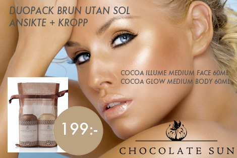 Duopack miniförpackningar Chocolate Sun brun utan sol