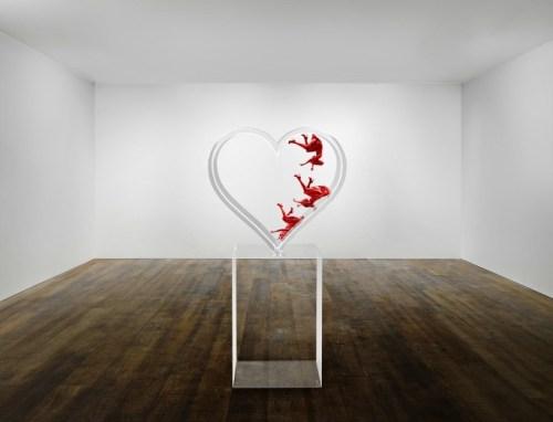 """Falling In Love"" photo sculpture by David Drebin"