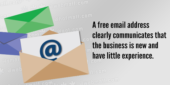 Never Use A Free Email