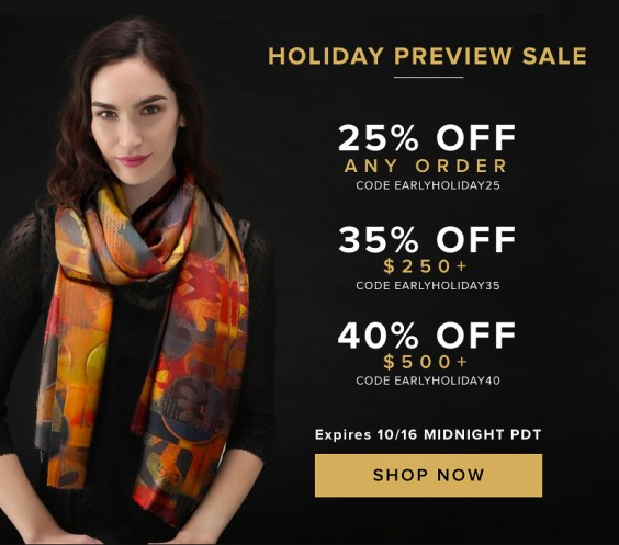 25% OFF SITEWIDE + 35% OFF $250 + 40% OFF $500