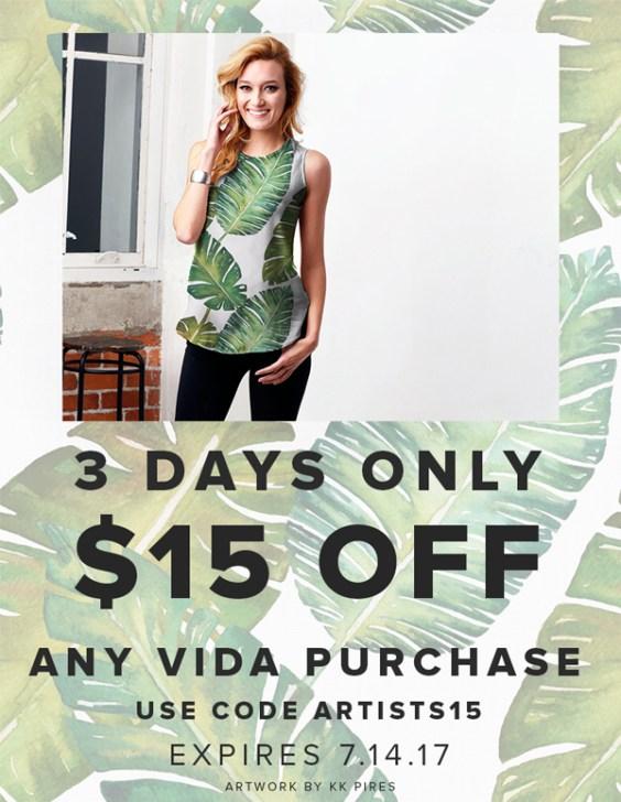 $15 Off Any VIDA Purchase
