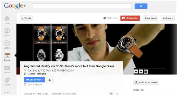 "Googl+ Hangout  Augmented Reality ala 3D3C"" 04-Sep-2012"