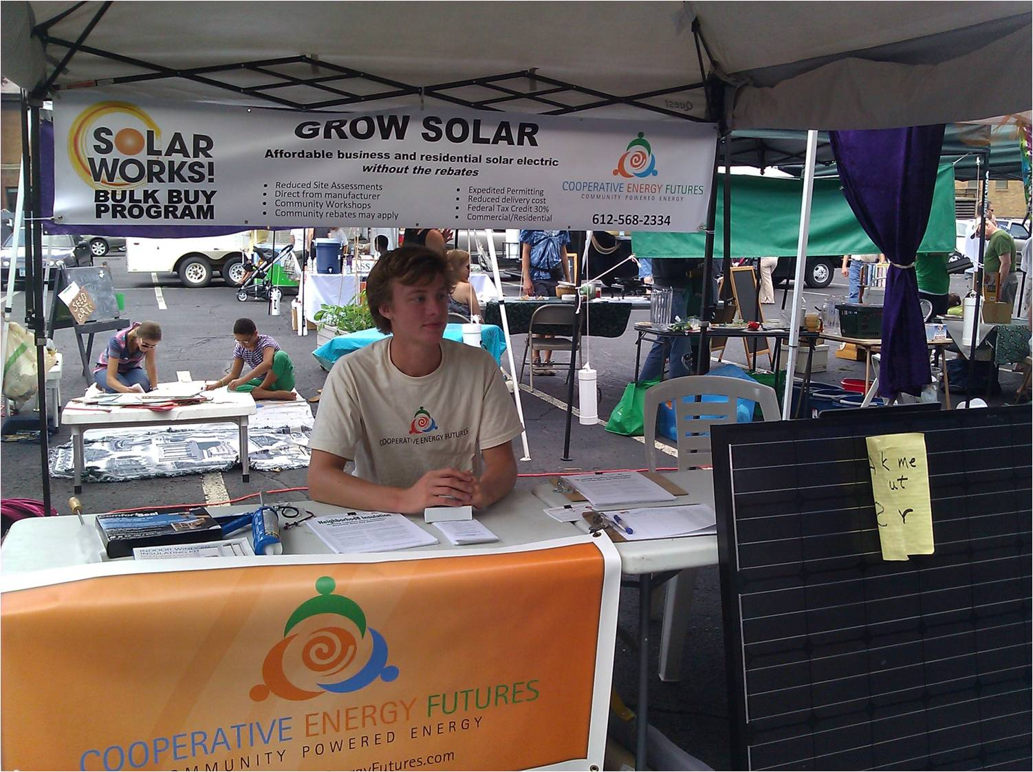 Tabling at our 2012 Grow Solar program