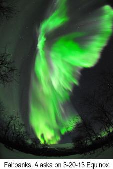 Aurora - Fairbanks, Alaska on March 20, 2013 Equinox