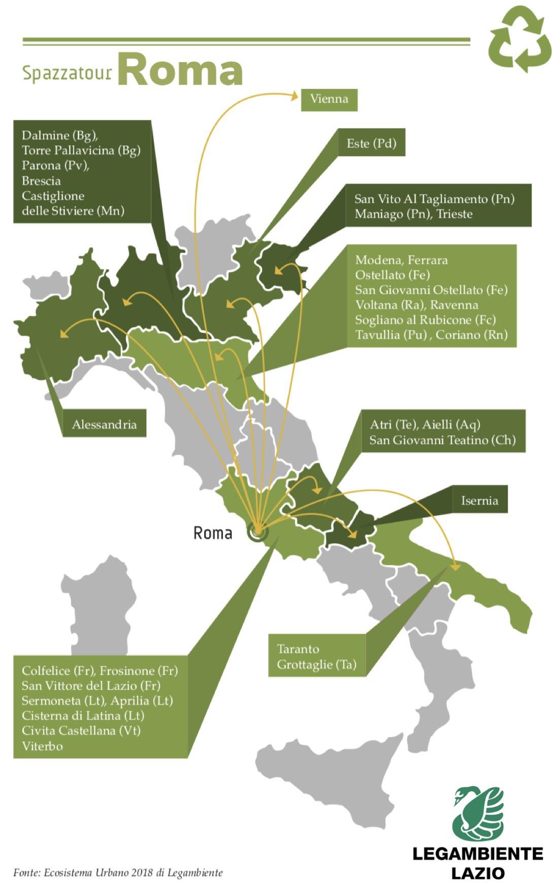 Ecosistema urbano 2018 for Ufficio decoro urbano roma