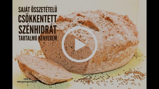 Saját összetételű csökkentett szénhidrát tartalmú kenyér