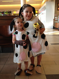 You want to make a kid sized cow costume with stuff you have at home too? Hereu0027s how we did it in about an hour (per costume)  sc 1 st  World Wide Wood & Moo! (or Last Minute Cow Costumes on a Budget of Zero Dollars ...