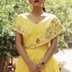 Shraddha Srinath In Yellow Drape Dress Photos South Indian Actress