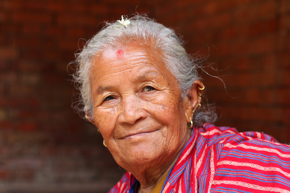 Nepalese woman smiling