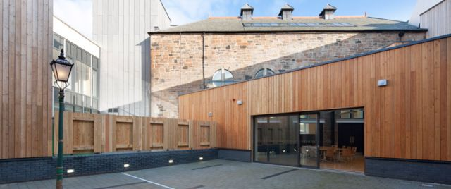 Courtyard area at Maryhill Burgh Halls
