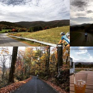 Bicycles, country roads, and beer.