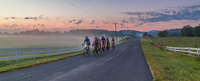 Crozet Cycling Club on a morning ride; photo not taken by me