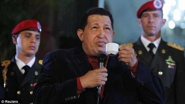 Hugo Chávez Drinking Coffee