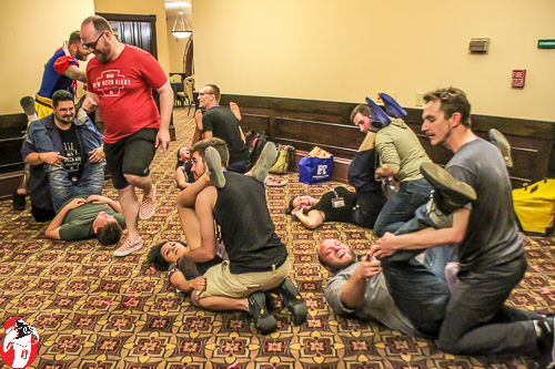 The Gen Con premiere of Kama Sutra, the card and balloon game!