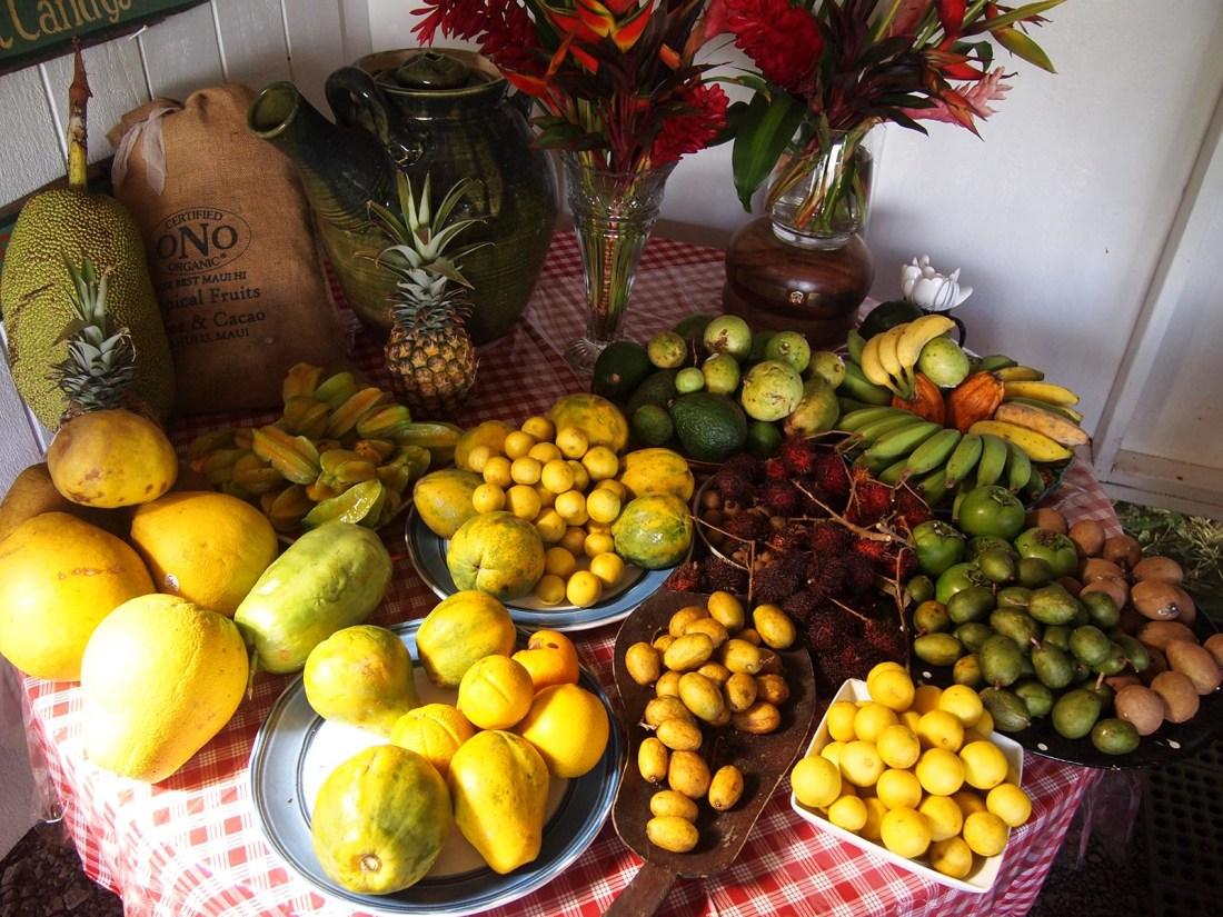 fruit tasting maui