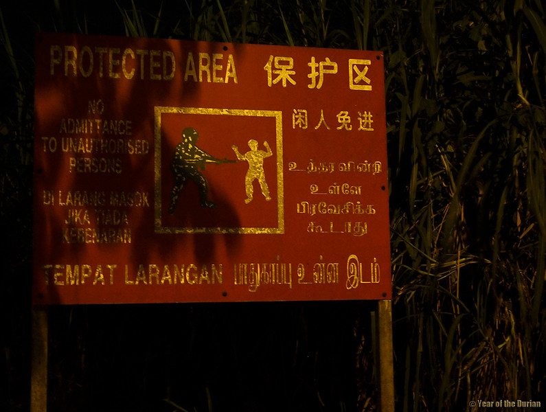 no trespassing singapore forests