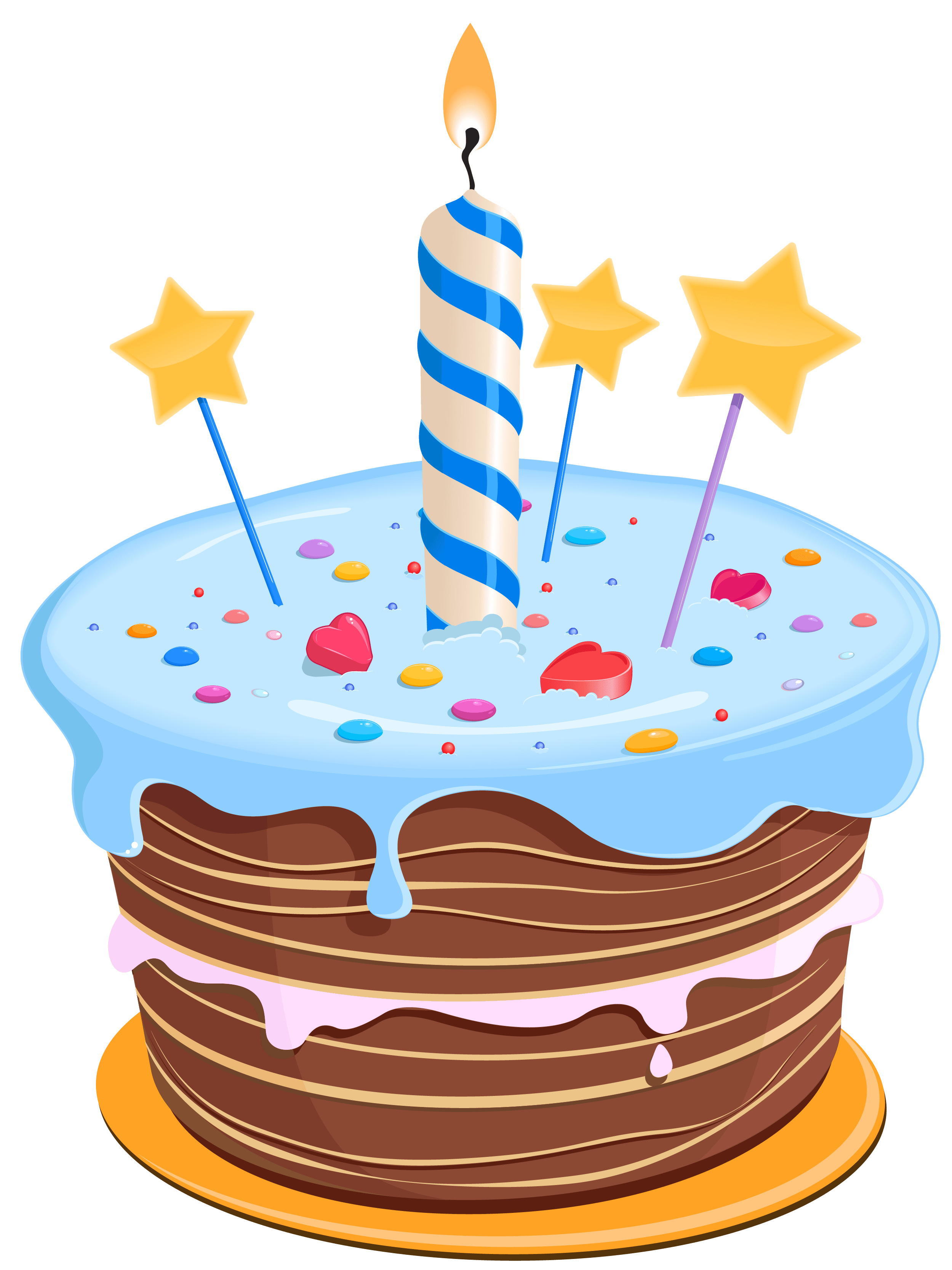 Birthday Cake With Stars Png Clipart Gallery