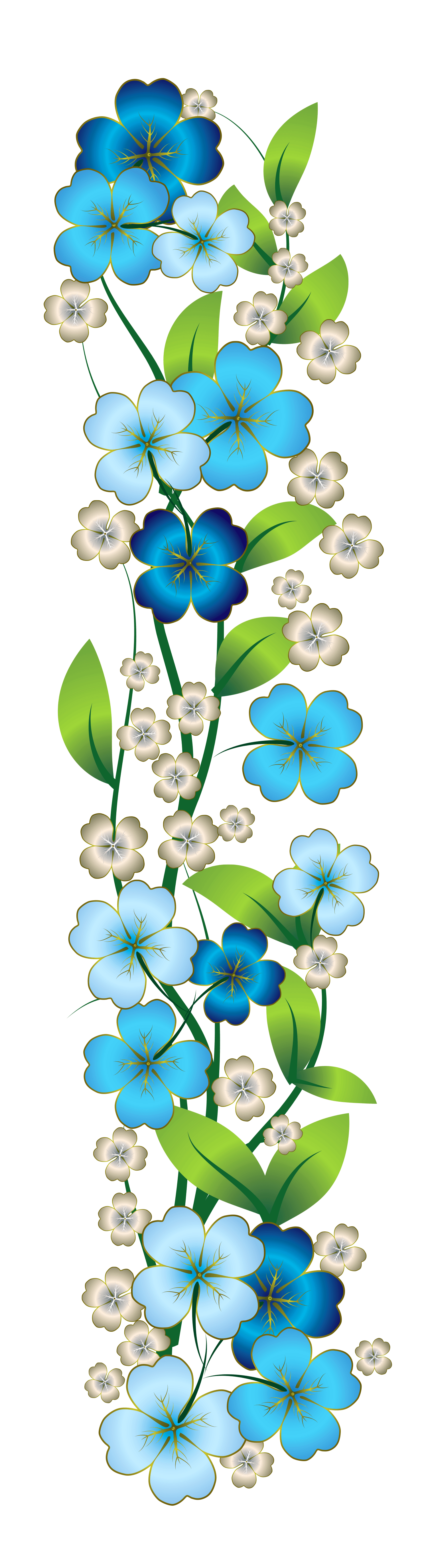 Blue Flower Decor PNG Clipart   Gallery Yopriceville ...