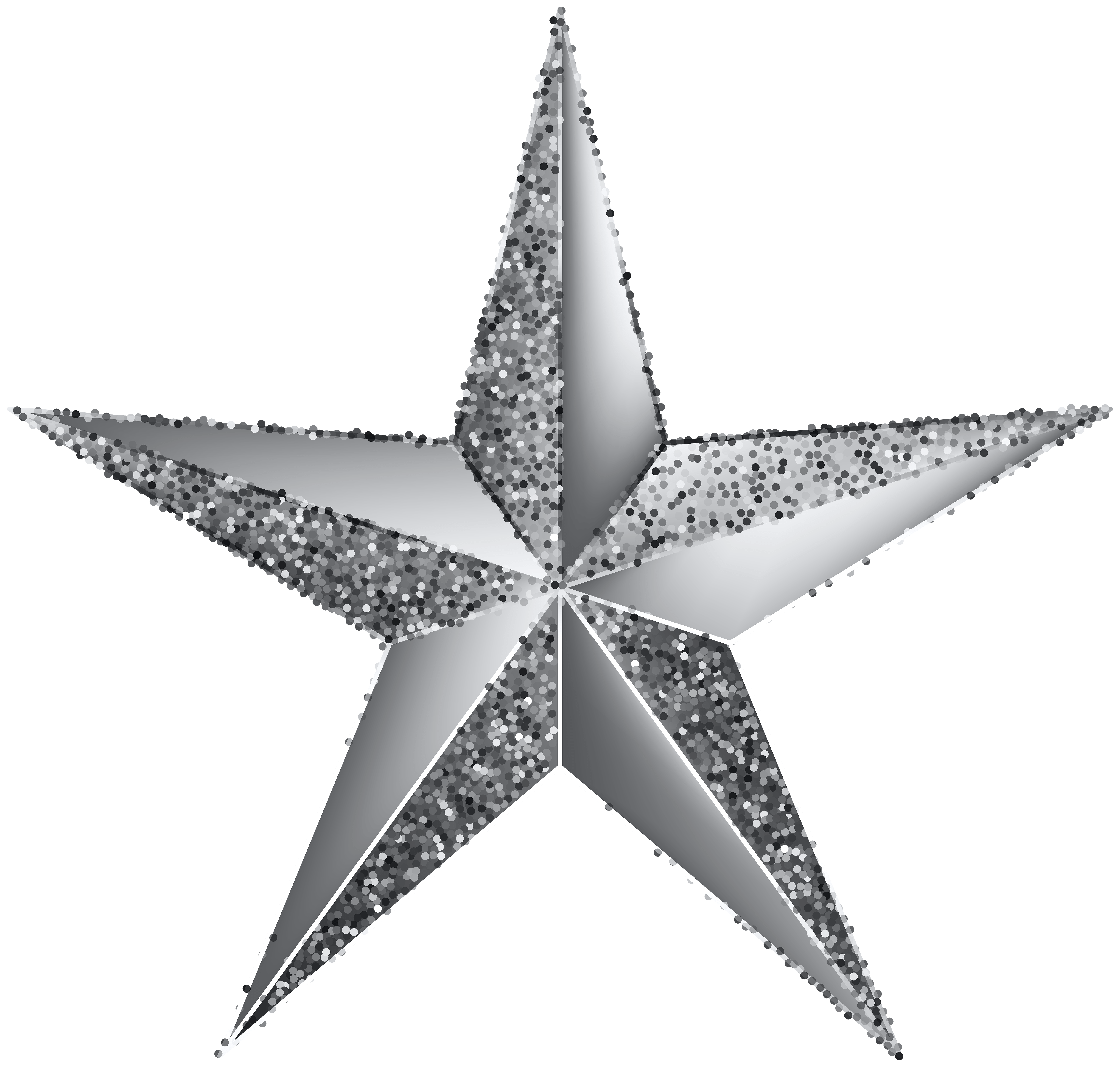Silver Star Transparent Clip Art Image Gallery