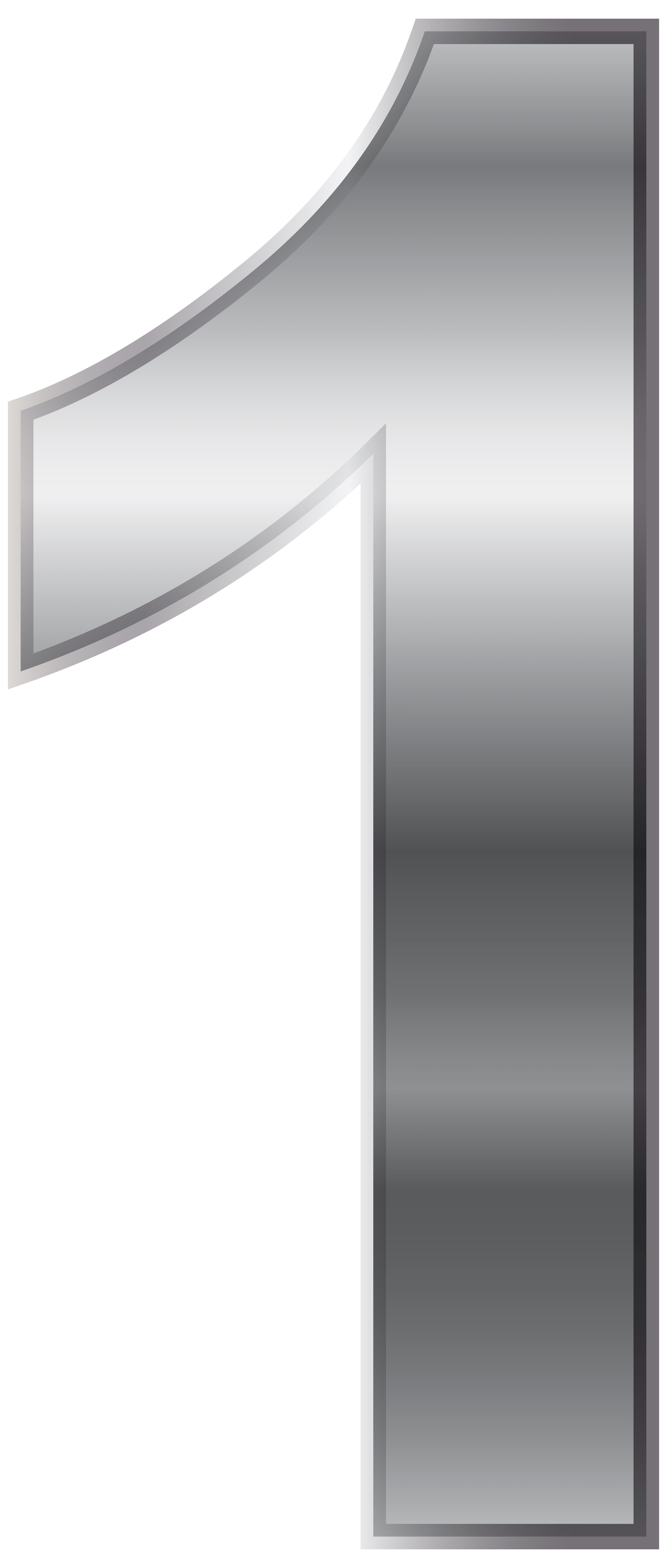 Silver Number One PNG Transparent Clip Art Image Gallery