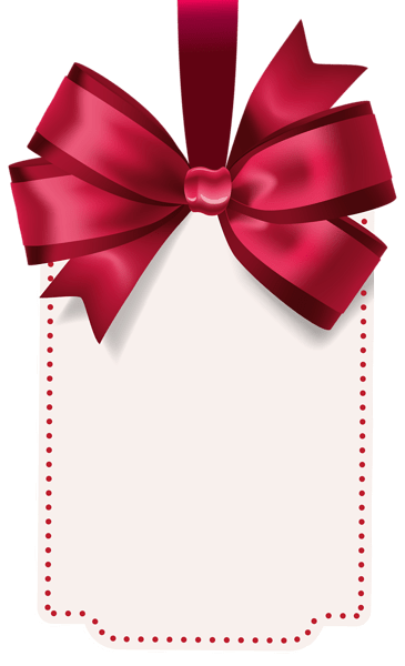 Label With Red Bow Template Png Clip Art Image Gallery