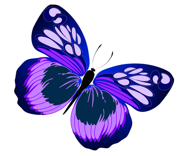 Blue And Purple Butterfly PNG Clipart Gallery