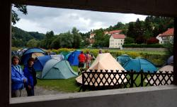 Tents at Passau