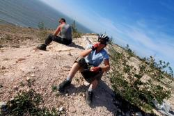 A break for oranges after a tough climb
