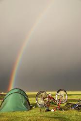 Rainbow over Lake Song Kol