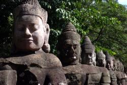Statues at the entry to Angkor Thom