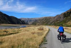Our first few kilometers on the Molesworth Road