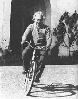Einstein on his bicycle