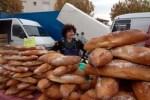 Baguettes in a Roussilon market