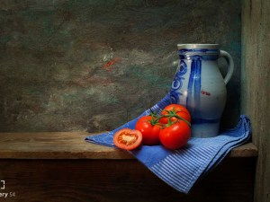 Mos Merab Samii -Tomatoes on a dishcloth