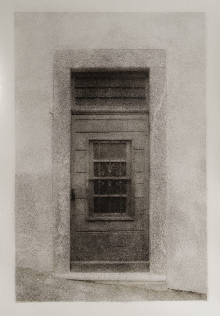 """""""Italian Doorway, Version 2"""" © David Aimone. Approx. 6"""" x 9"""" handcrafted bromoil print on Fomabrom Variant 123. Signed single edition print offered by GALLERY5X7 at $325."""