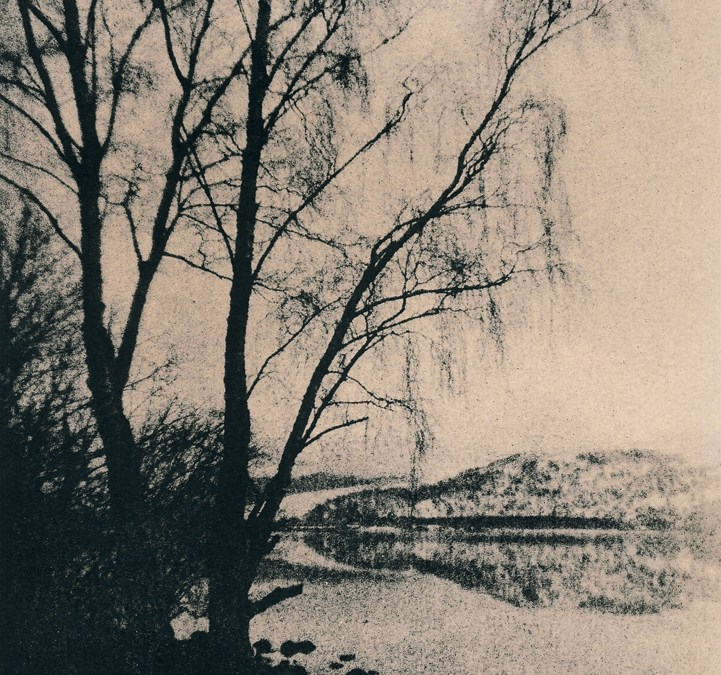 """Loch Rannoch. Trees"" © Iván B. Pallí. ""Trees on the snowy shore of Loch Rannoch, Scotland."" Approx. 14x20cm hand-printed silver gelatin lith print on Unibrom paper. Signed and numbered original print, edition 1/5, offered at $250."