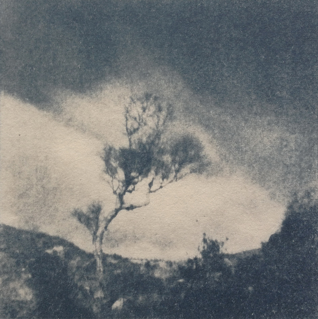 """""""Donnegal"""" © Victor Senkov. Print from handmade pinhole plate from vintage Soviet Svema B/W film. Approx. 5.1x5.1"""" (13x13cm) handcrafted alternative process photograph (cyanotype, toned). GALLERY5X7 offers this signed, numbered and stamped original artist print at $250."""