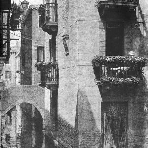 """Venetian Siesta"" © Daniel Zilbersheid. Approx. 19x27"" (48.3x68.6cm) handcrafted alternative process photograph (gumoil). GALLERY5X7 offers this signed, original print at $800."