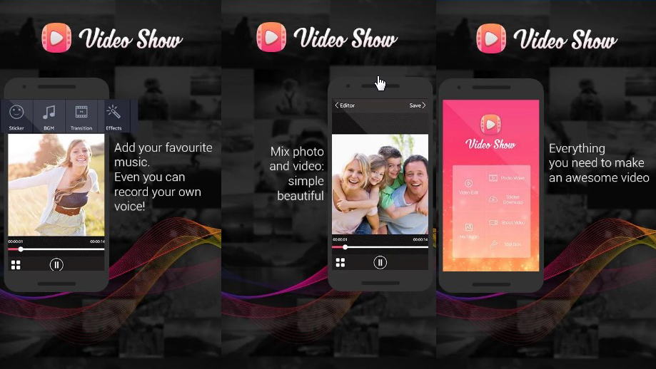aplikasi edit foto jadi video video slideshow proshow effect