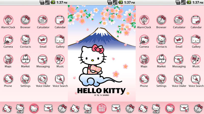 tema android hello kitty launcher