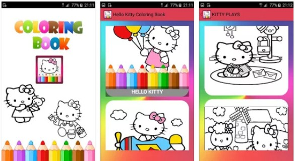 Coloring book for Kitty