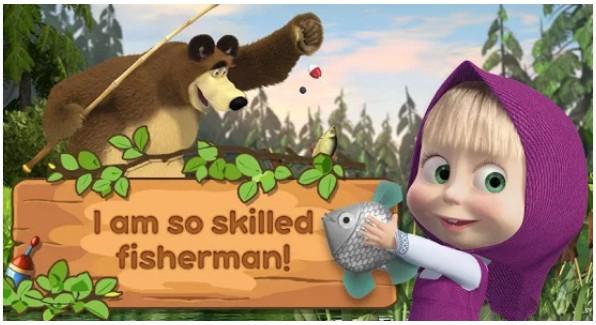 Masha dan Beruang: Anak Fishing