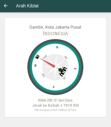 arah kiblat fitur Al Quran Indonesia