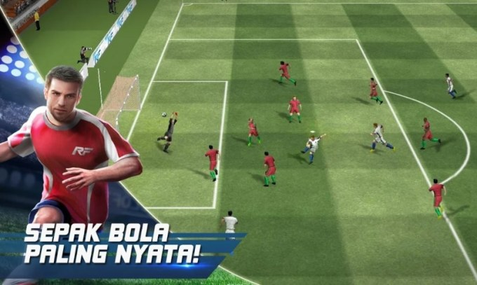 Real Football Game Sepak Bola HP Android