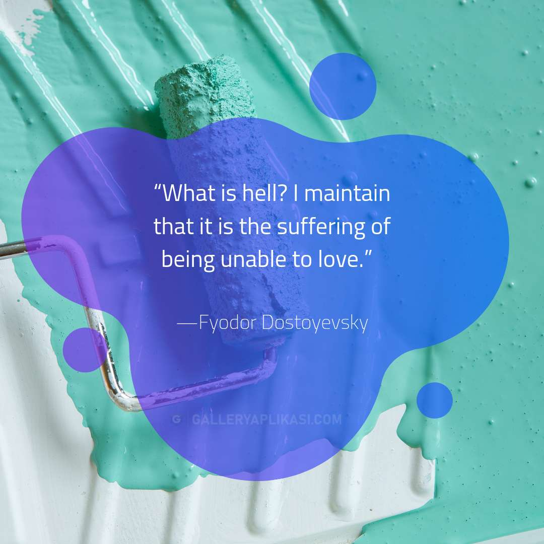 being unable to love