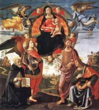 GHIRLANDAIO_Domenico_Madonna_In_Glory_With_Saints