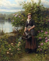 Knight_Daniel_Ridgway_Watering_the_Garden